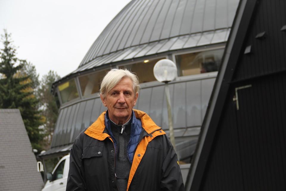 Fons Mertens in 2016 bij een bezoek aan 'zijn' Frans Masereel Centrum. Afgelopen weekend is hij overleden op Tenerife.
