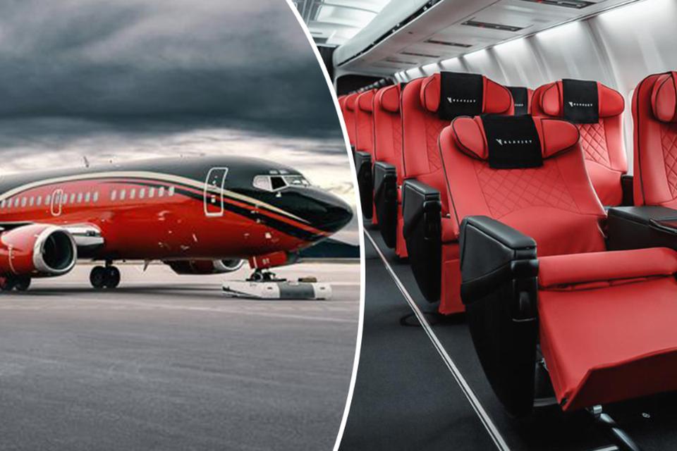 De Boeing 737 van het Litouwse KlasJet zal de Rode Duivels naar de verschillende EK-gaststeden brengen.