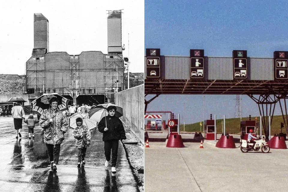 De opening van de Liefkenshoektunnel dertig jaar geleden.