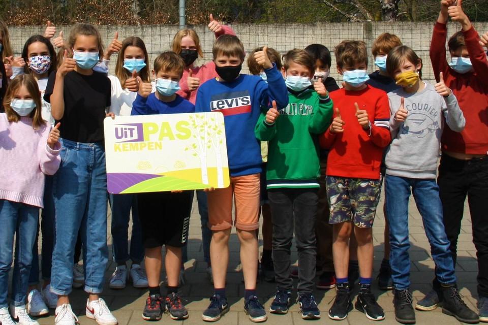 De leerlingen van klas 6A van vrije basisschool De Springplank in Lille staan te popelen om te kunnen starten met punten sparen.