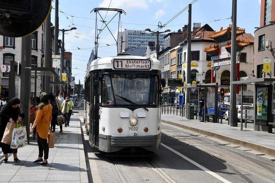 Tramlijn 11 is één van de trajecten die uitsluitend met een oude PCC bediend worden.