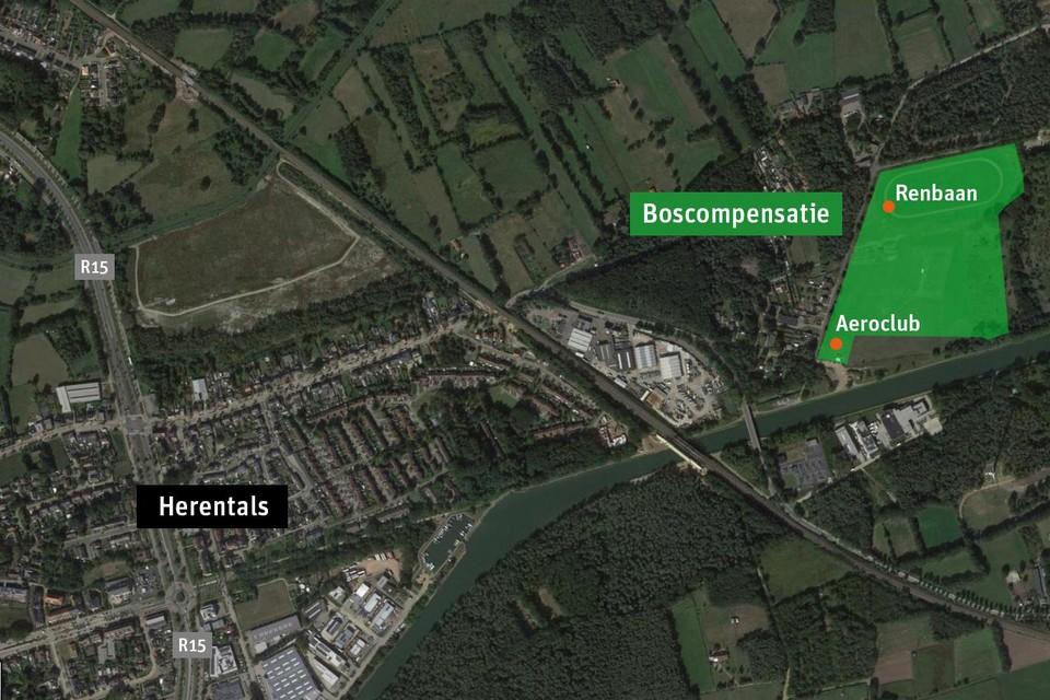 De terreinen van van Umicore liggen aan Proostenbos. Ze hebben een oppervlakte van meer dan 11 hectare.