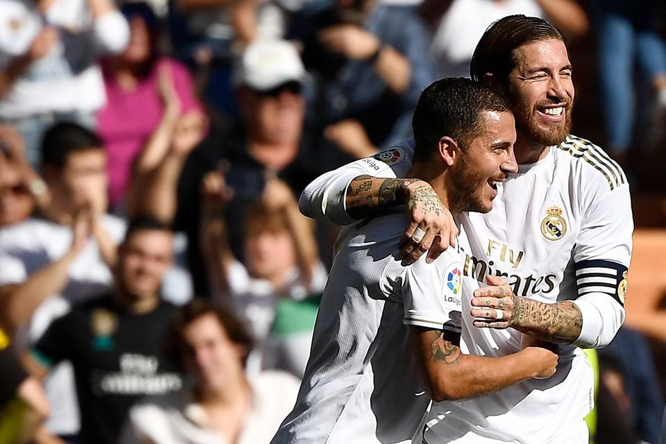 Hazard en Ramos in fysiek betere tijden.