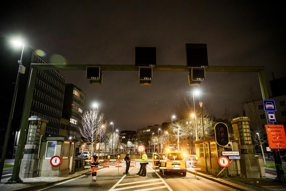 De volgende vier maanden wordt er gewerkt in de Waaslandtunnel.