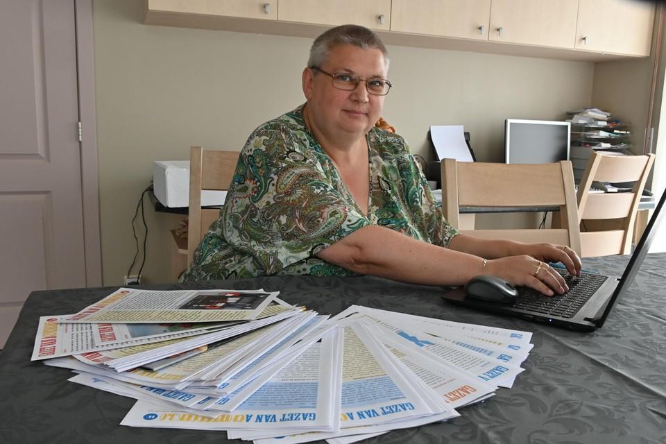Ann Frankcen verwerkt 57 kranten tot één boek.
