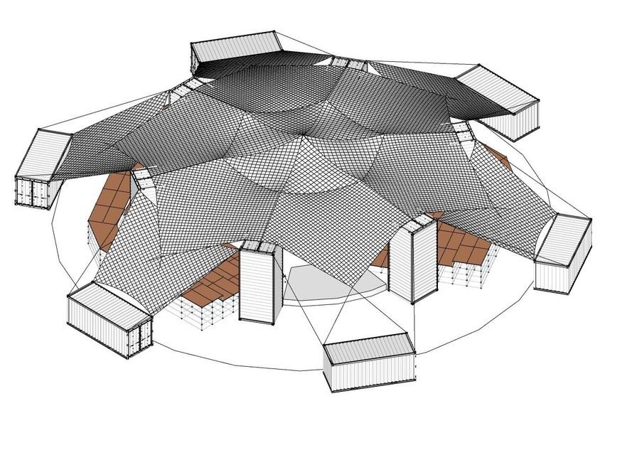 In primeur het ontwerp van de Arena, het pop-upamfitheater ontworpen door architect Michiel Helbig dat tegen begin juli zal verrijzen in het maisveld achter de foodbar.