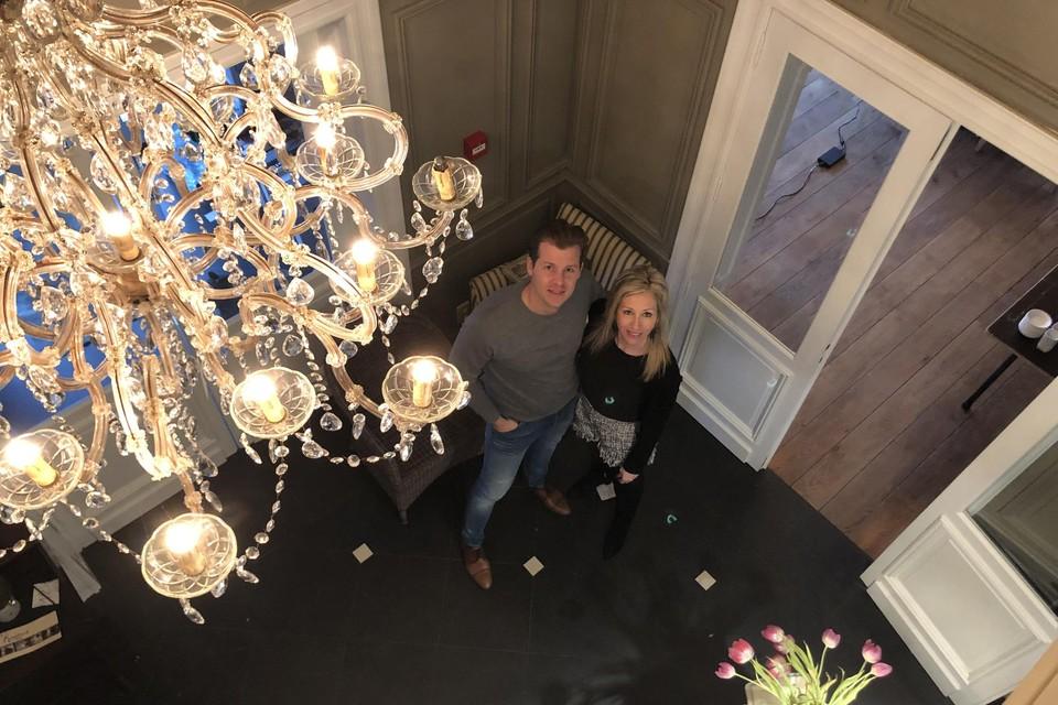 Sven Wilms en zijn partner Caroline Fraiture.