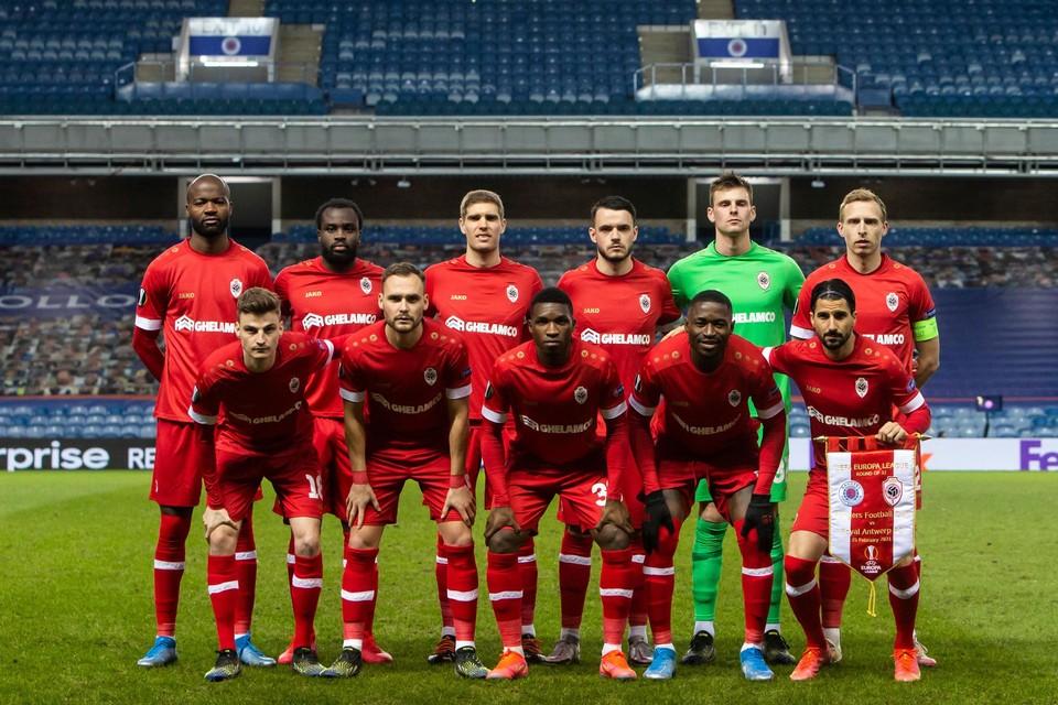 De ploeg die vorige week startte in Glasgow, toen ook al met véél afwezigen.