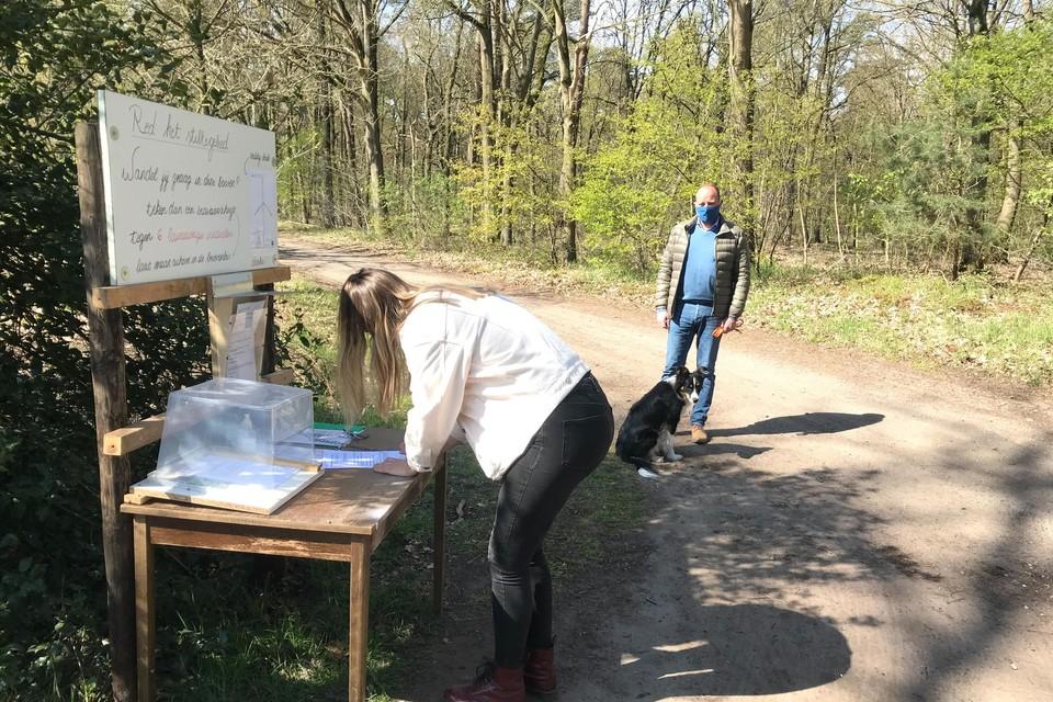 Buurtbewoners hielden al een petitie voor het behoud van de bossen.