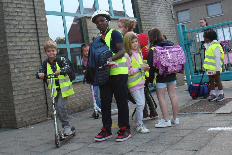 Ook aan de lagere scholen in Balen zijn de leerlingen vrijdag gestart met Bike2School.