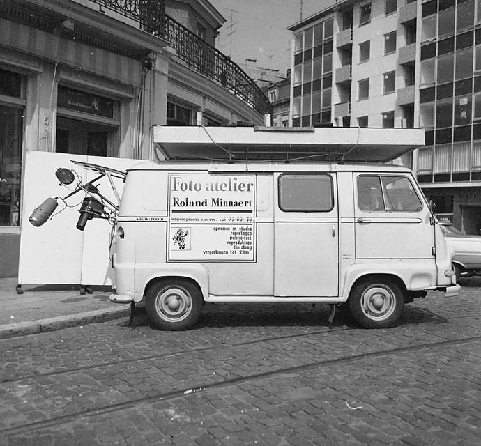 Foto-atelier Minnaert op de Leopoldplaats in 1966.