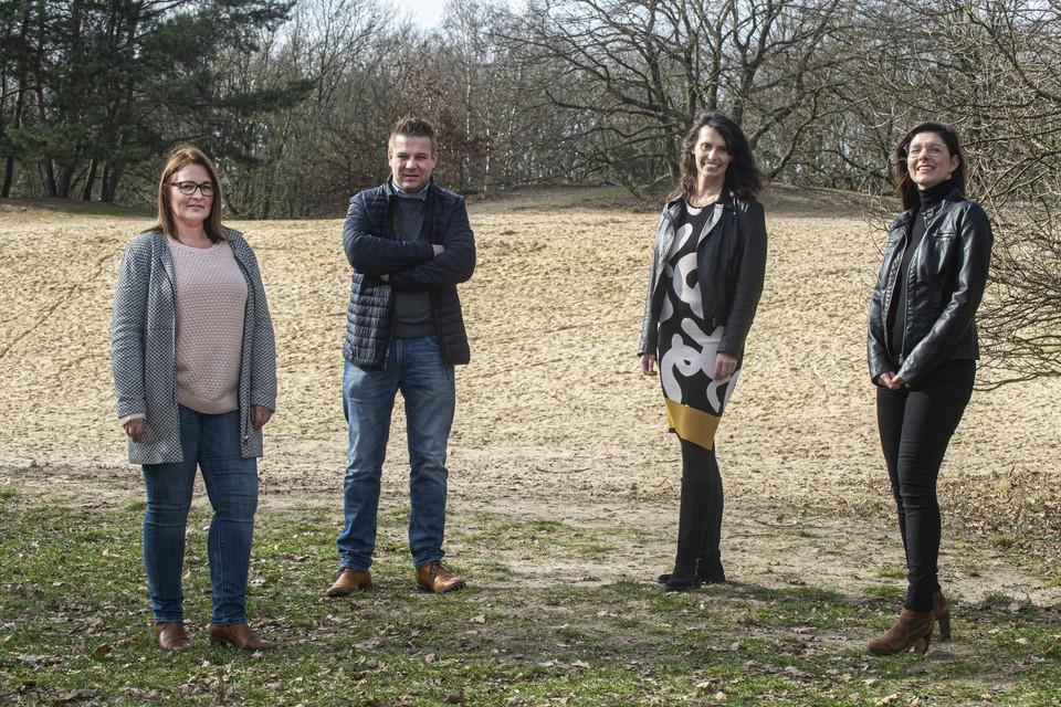 Leden van het actiecomité Vosselaar voor Vosselaar met Lydia Dehouwer, Jürgen Vogels, Esther Lub en Ilse Van Gestel.
