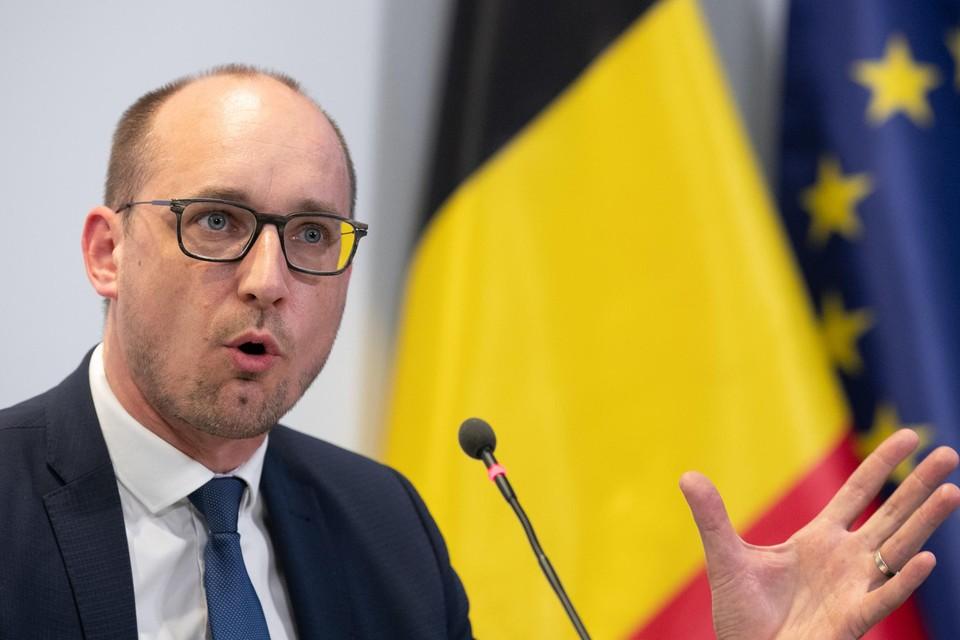 Minister van Financiën Vincent Van Peteghem (CD&V) trapte het 'belastingaangifteseizoen' officieel af.