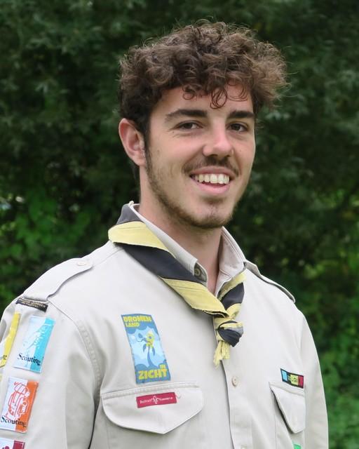 Jef D'Affnay, groepsleider van de scouts Wijnegem