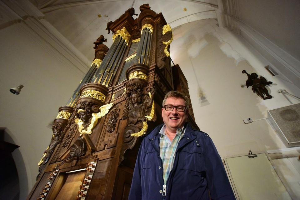 Organist Nico Declerck.