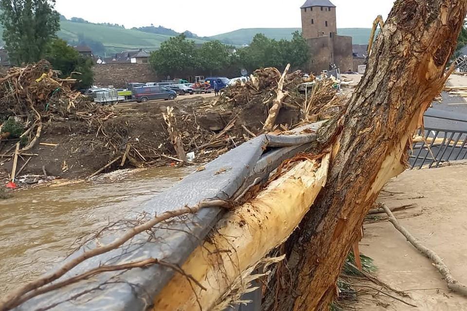 De schade in Bad Neuenahr is enorm.