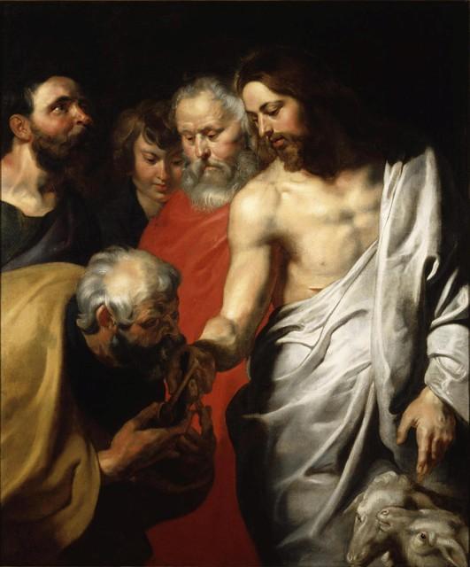 Het origineel werk Christus geeft de sleutels van het Koninkrijk aan Petrus van Rubens hangt in het Carnegie Museum of Art in Pittsburgh (VS).