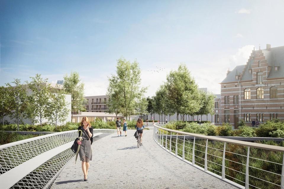 Een impressie van de nieuwe fiets- en voetgangersbrug.