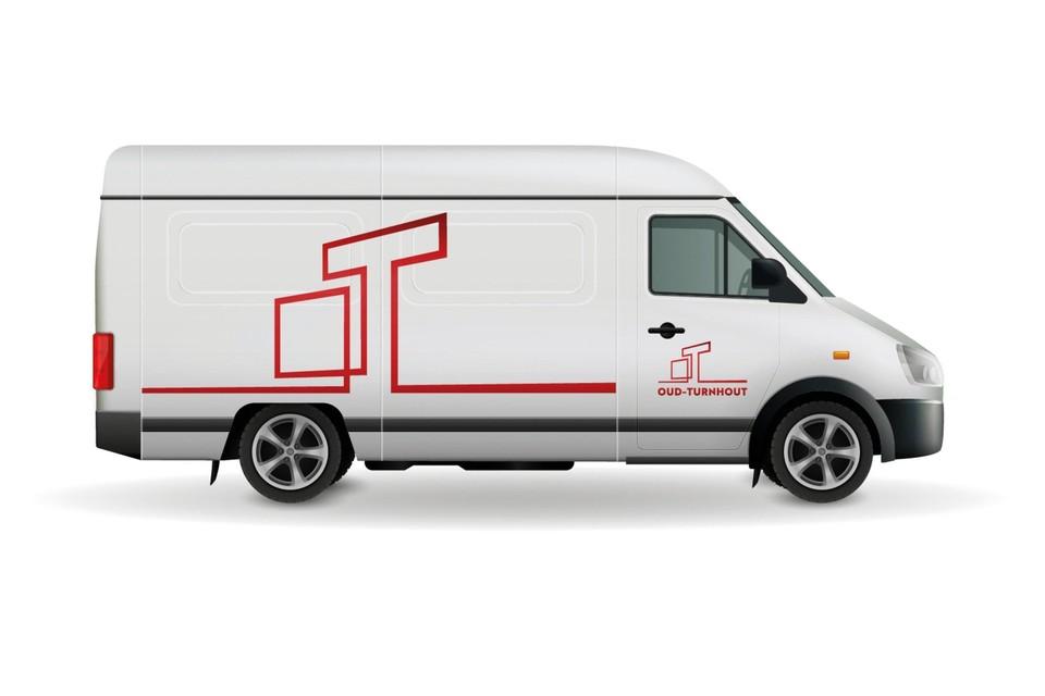Het nieuwe logo prijkt op onder meer de gemeentevoertuigen.