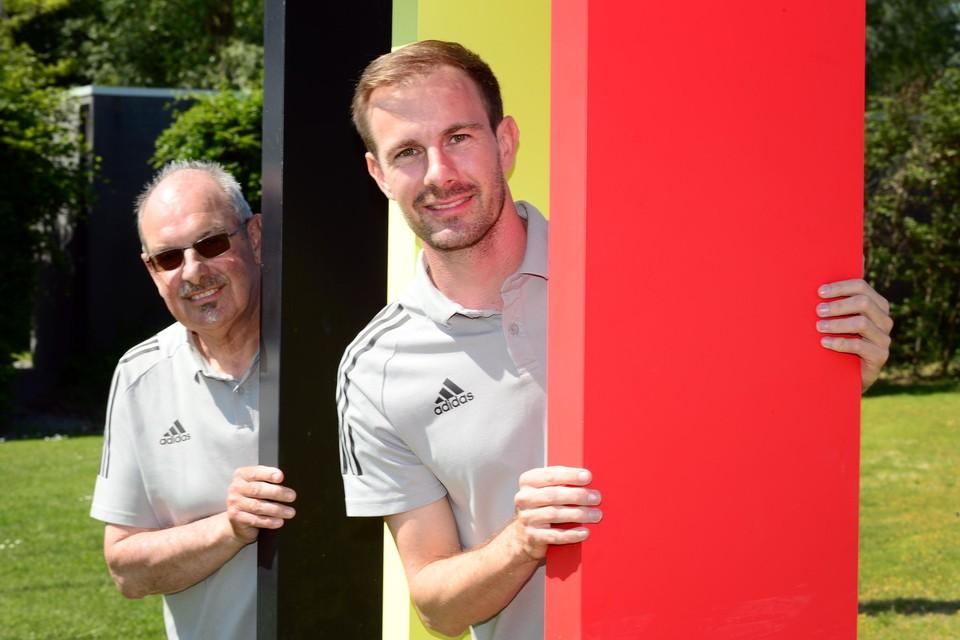 Dirk Nachtgergaele (links) en Milan D'Hoe (rechts)