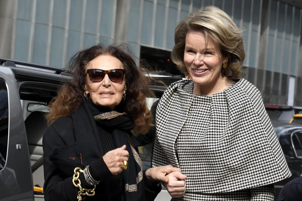 Mathilde met Diane von Furstenberg.