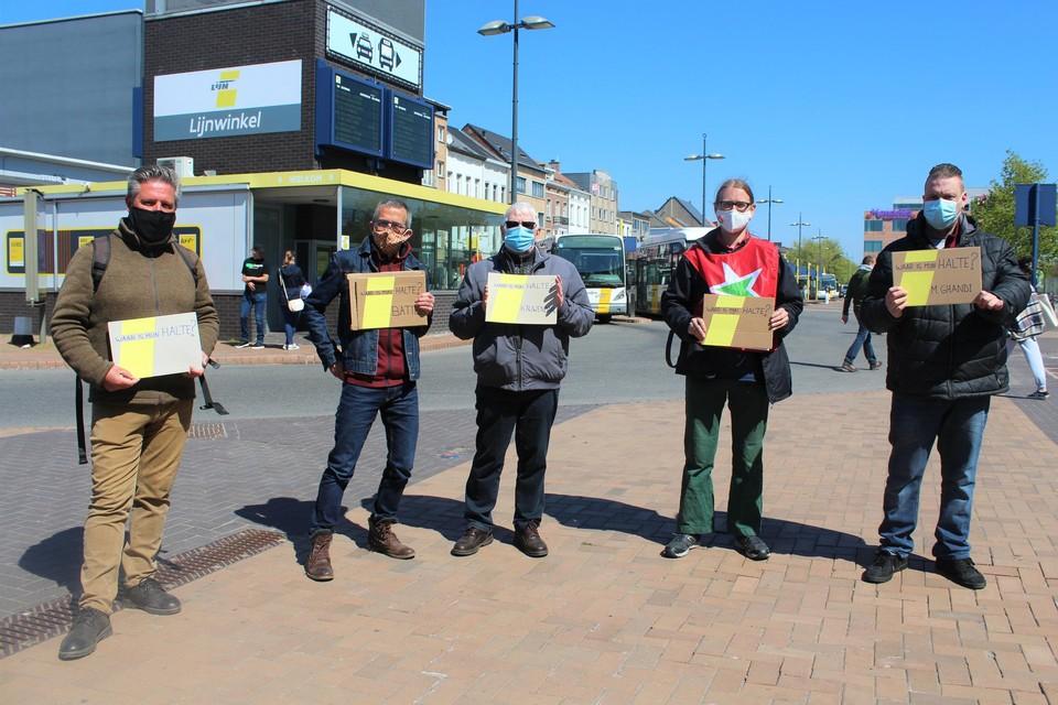PVDA Mechelen voerde maandag actie tegen de plannen van de vervoersregio.