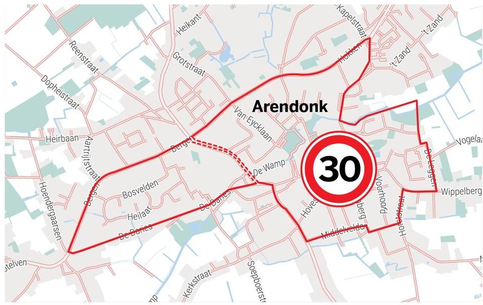 De initieel voorgestelde 'superzone-30' zou zowat alle straten omvatten tussen de 'ring', Daries en Middelvelden.