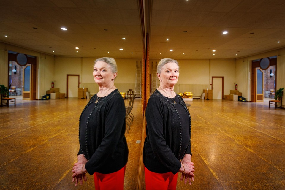 Anouchka Balsing in de balletzaal van Diependael. Het gebouw is verkocht.