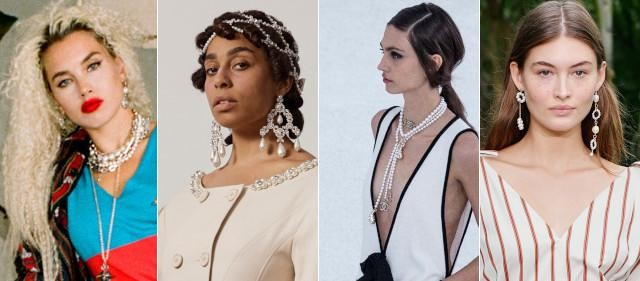 Vlnr: Vivienne Westwood, Simone Rocha, Chanel en jason Wu