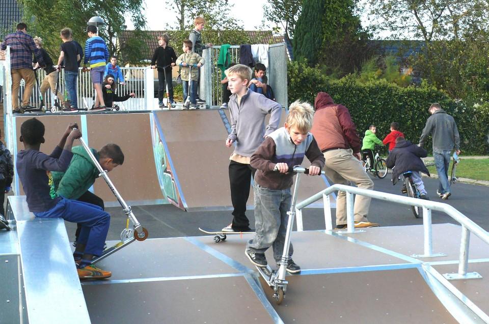 In 2013 opende het skatepark met veel animo.