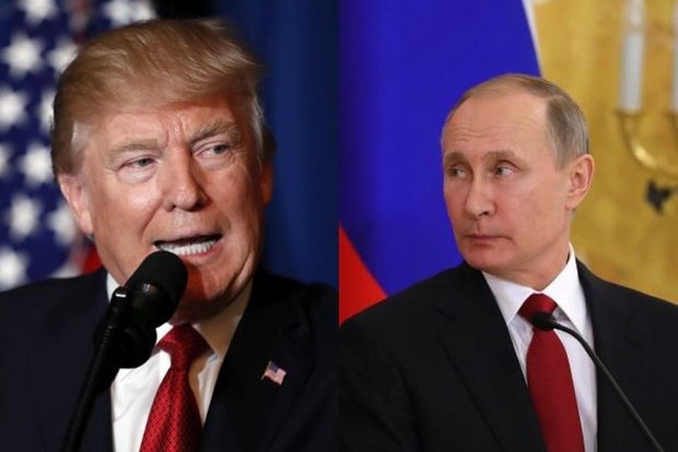 Amerikaans president Donald Trump en Russisch president Vladimir Putin.